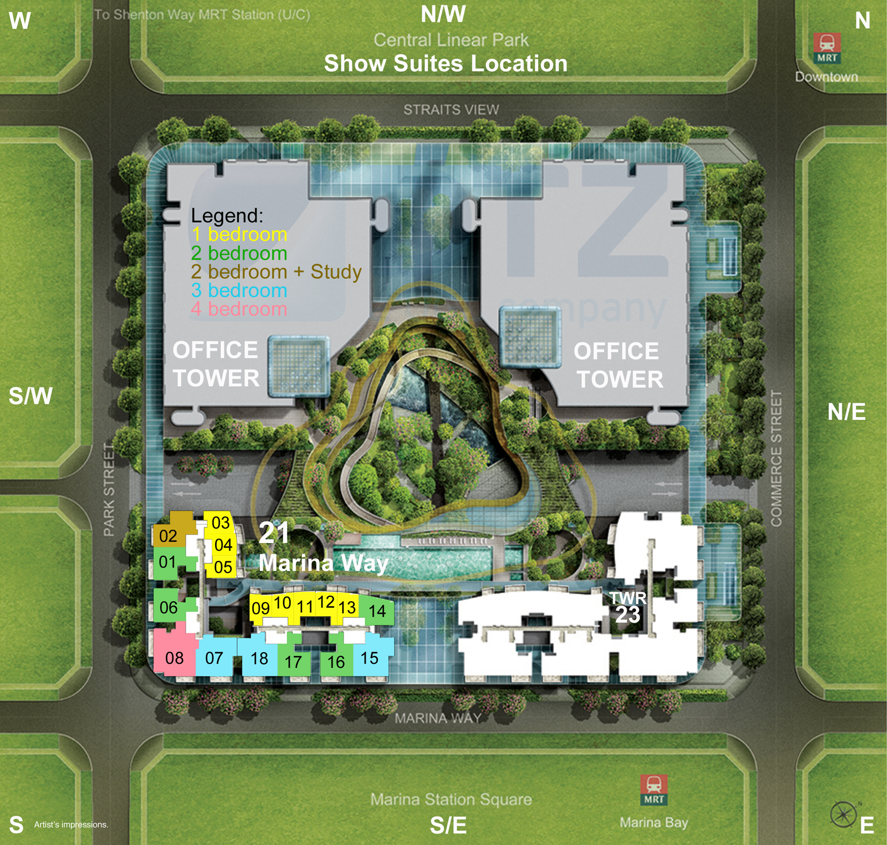 Marina One Site Plan